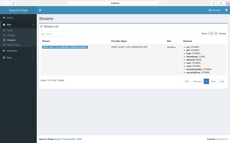 Applications - Apache Eagle Documentation